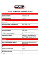 especificaciones  PAGE PRO1590 mf